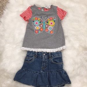 2 pc outfit Emily Rose Top and Levi's skirt size 5